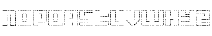 Display Gothic M Regular Font UPPERCASE