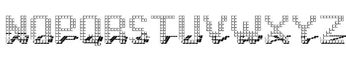 Display3DOTF Font UPPERCASE