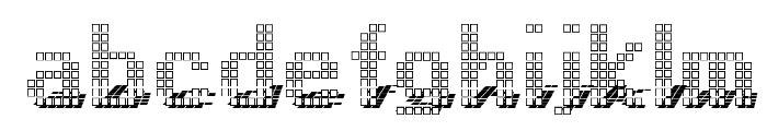 Display3DOTF Font LOWERCASE