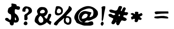 DisplayFadi Font OTHER CHARS