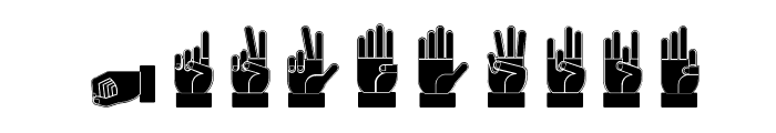 Dissaramas CRU Fingerspelling Font OTHER CHARS