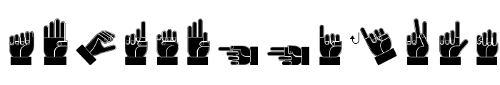 Dissaramas CRU Fingerspelling Font LOWERCASE