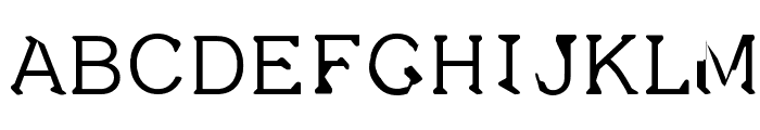 Dissatisfaction Font UPPERCASE