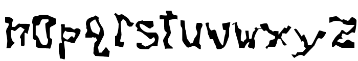 Dissonant Fractured Font LOWERCASE