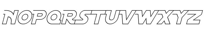 Distant Galaxy AltOutline Italic Font UPPERCASE