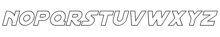 Distant Galaxy Outline Italic Font LOWERCASE