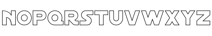 Distant Galaxy Outline Font UPPERCASE