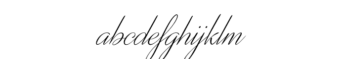 DistantStroke Font LOWERCASE