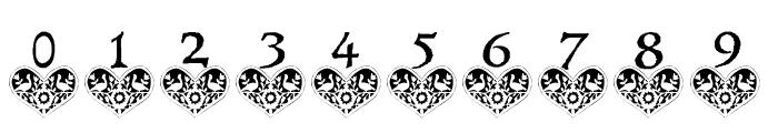 Distelfink Heart Font OTHER CHARS