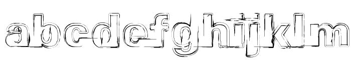 Distopia Black Outlines Font LOWERCASE
