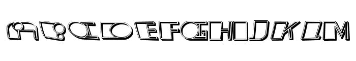 Distorted Regular Font LOWERCASE