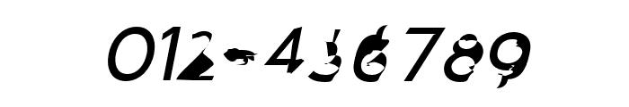 Distorted Sans Oblique Font OTHER CHARS