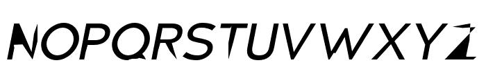 Distorted Sans Oblique Font UPPERCASE