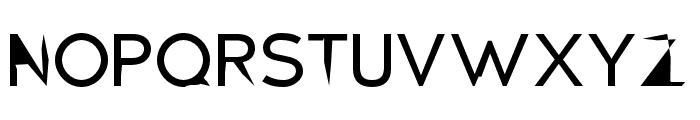 Distorted Sans Font UPPERCASE