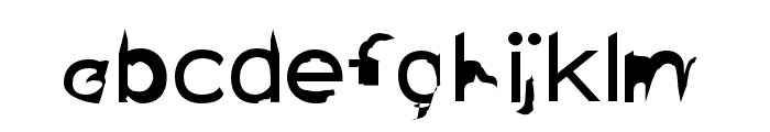 Distorted Sans Font LOWERCASE