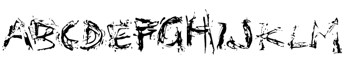 Distortia Font LOWERCASE
