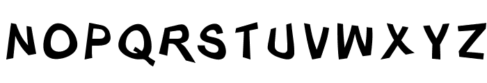 Distorty-Normal Font UPPERCASE