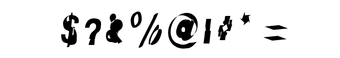 Distraught Italic Font OTHER CHARS