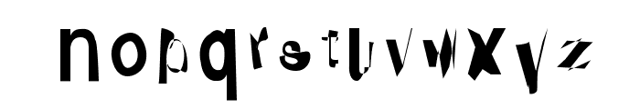 Distraught Font LOWERCASE