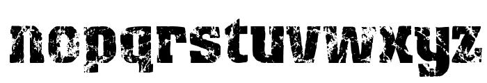Distress Font LOWERCASE