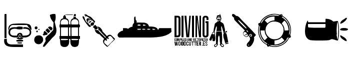 Diving Font OTHER CHARS