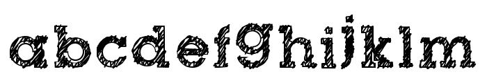 dibble nibble square Font LOWERCASE