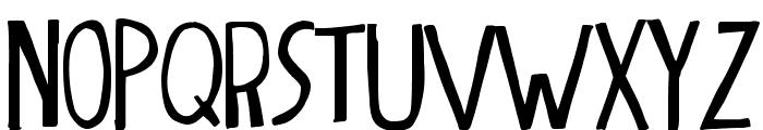 dingleberry solid Font UPPERCASE