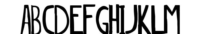 dingleberry solid Font LOWERCASE
