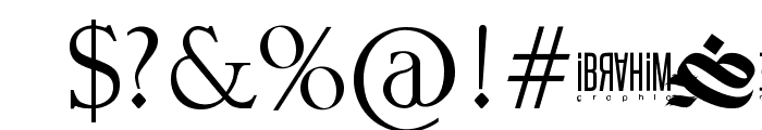 dirty calligraphy Font OTHER CHARS