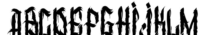 dirty calligraphy Font LOWERCASE