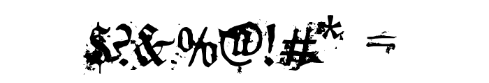 dirty~gotic Font OTHER CHARS