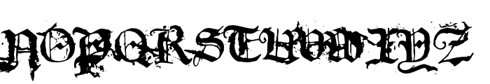 dirty~gotic Font UPPERCASE