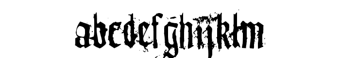 dirty~gotic Font LOWERCASE