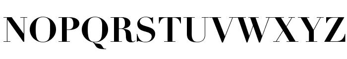 Didot Bold Font UPPERCASE