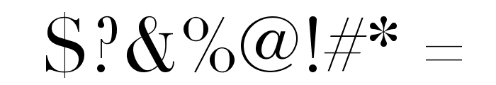 Didot Font OTHER CHARS