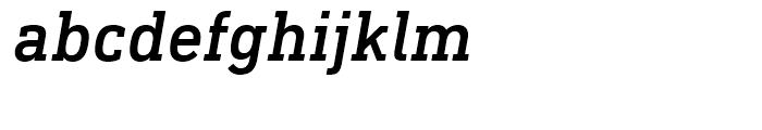 DIN Next Slab Medium Italic Font LOWERCASE