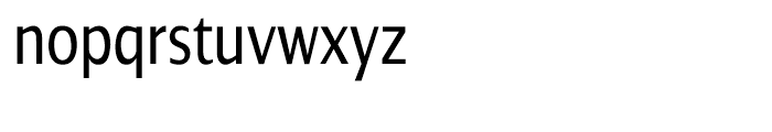 Dialog Condensed Roman Font LOWERCASE