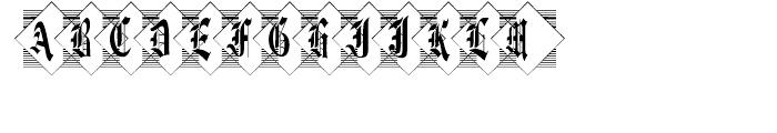 Diamond Monogram Two Characters Font LOWERCASE