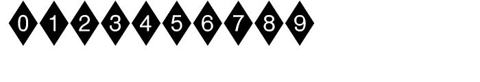 Diamond Negative Font OTHER CHARS