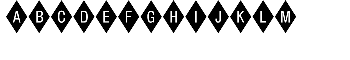 Diamond Negative Font UPPERCASE