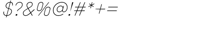 Diamonds Thin Italic Font OTHER CHARS