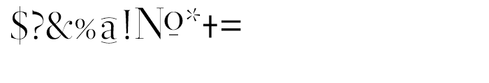 Didot Display Regular Font OTHER CHARS