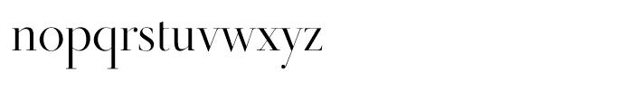 Didot Display Regular Font LOWERCASE