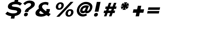 Dienstag Black Oblique Font OTHER CHARS