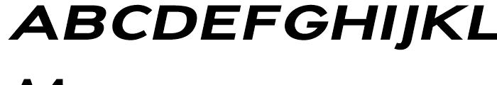 Dienstag Black Oblique Font UPPERCASE
