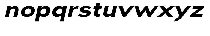 Dienstag Black Oblique Font LOWERCASE