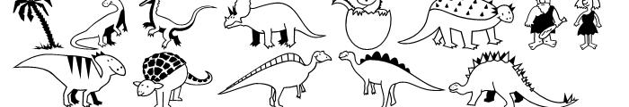 Dinosaurs Regular Font LOWERCASE