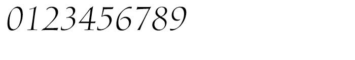 Diotima Classic Light Italic Font OTHER CHARS