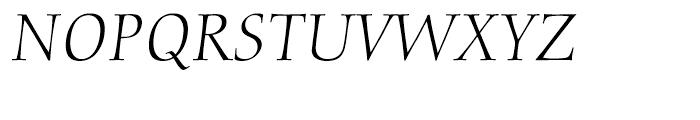 Diotima Classic Light Italic Font UPPERCASE