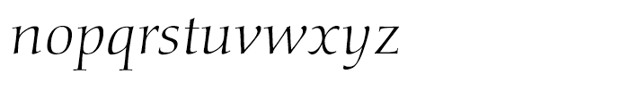 Diotima Classic Light Italic Font LOWERCASE